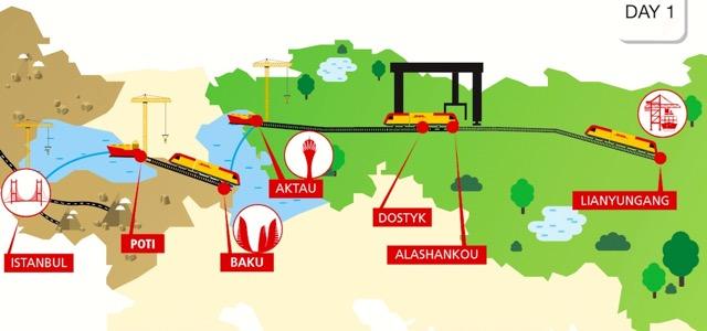 Новая мультимодальная линия между Китаем и Турцией