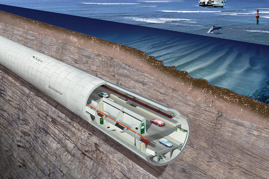 За 15 минут через Босфор по туннелю Евразия