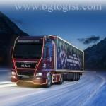 Рождественский грузовик отправляется в поездку
