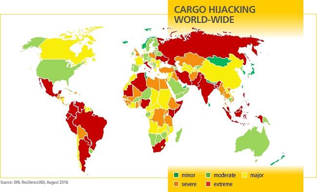 Определены самые опасные страны для грузов