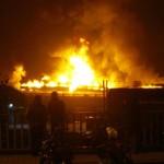 Мощный пожар на таможне в Стамбуле