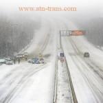 Весенний снег накрыл транспортную систему Европы